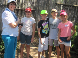 Kids party in maize maze
